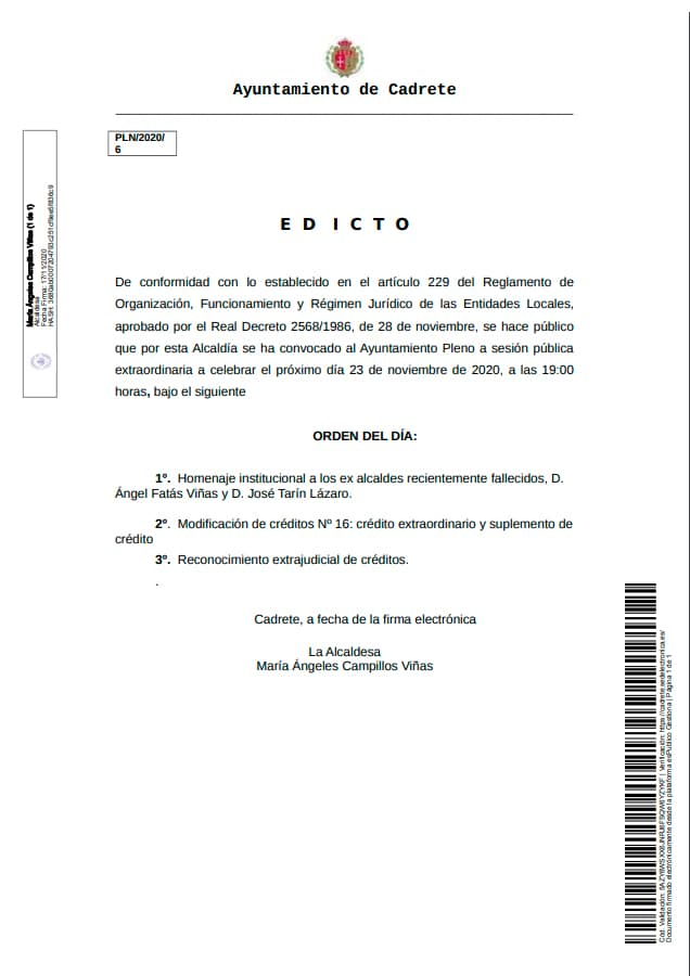 edicto pleno 23 noviembre