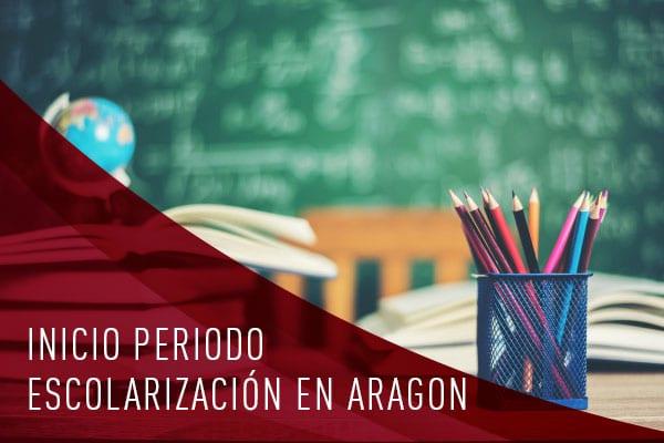 Inicio periodo escolarización Aragón