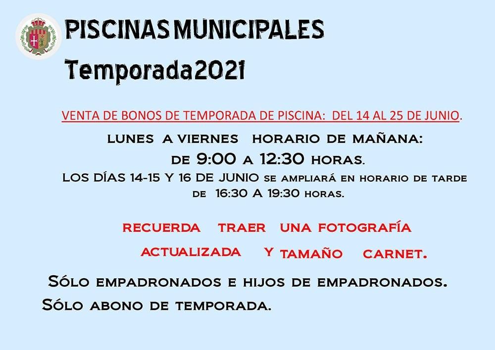 Bonos de Piscina 2021