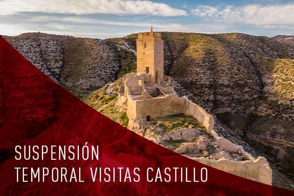 Suspensión temporal de las visitas al Castillo de Cadrete