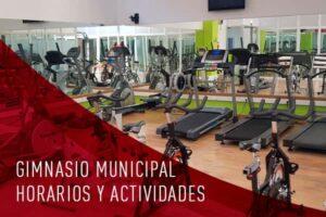horarios y actividades del gimnasio municipal de Cadrete