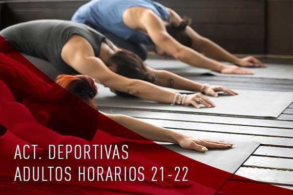 actividades deportivas adultos horarios 2021-2022