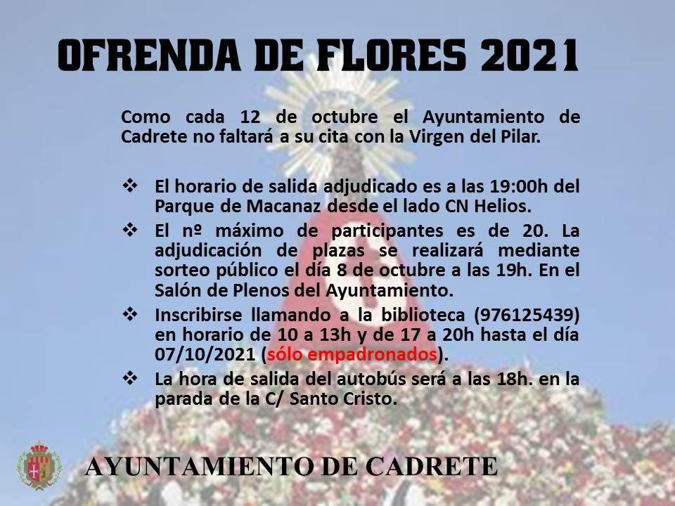 ofrenda de flores 2021